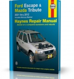 FORD ESCAPE, MAZDA TRIBUTE, MERCURY MARINER (2001-2012) - instrukcja napraw Haynes